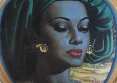 L'Atelier de l'Ill - Claudine Herzog - Relooking de meubles - Fauteuil Médaillon l'africaine