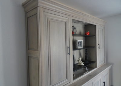 L'Atelier de l'Ill - Claudine Herzog - Relooking de meubles - Bibliothèque en orme massif